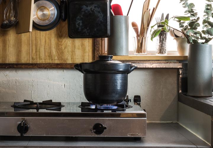土鍋とガスコンロ