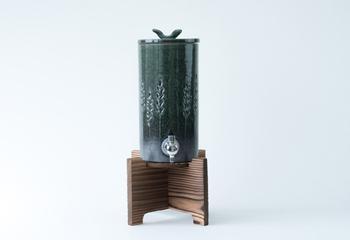 焼酎サーバー 【尺寸胴series】麦の穂緑彩釉 1.8L