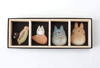 となりのトトロ 信楽焼箸置き4点セット(化粧箱付)