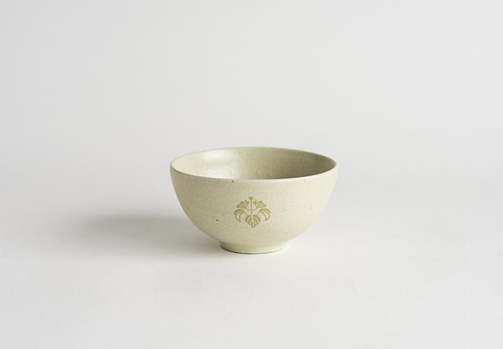 花個紋お茶碗
