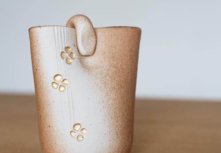 絞り金彩ミニ花器03
