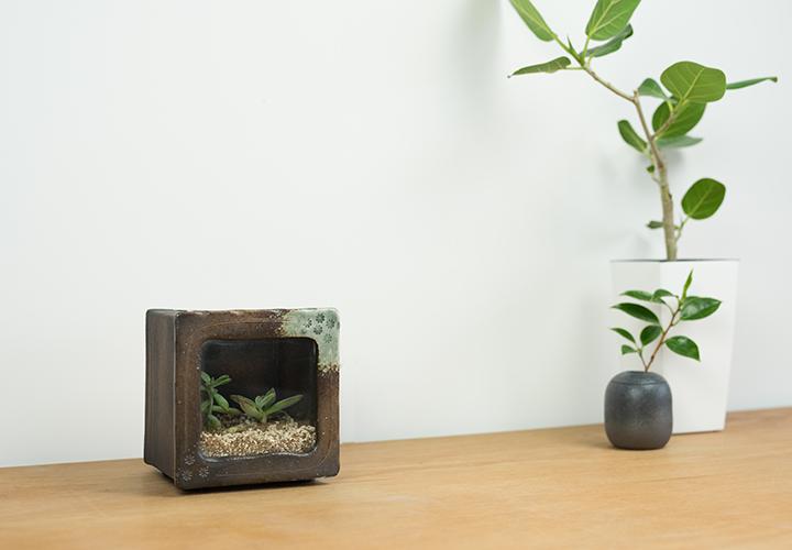 角水槽・小(すす竹茶)06