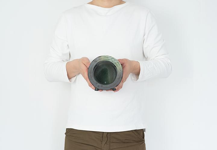 丸水槽・小(すす竹)05