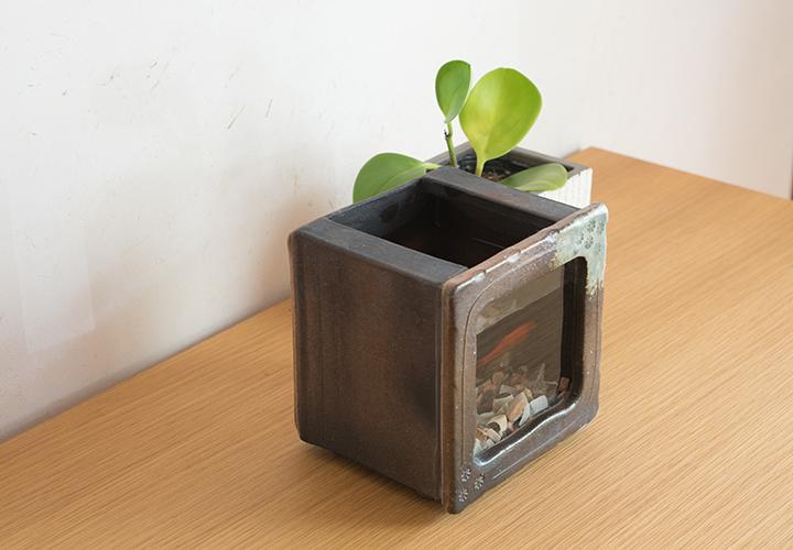 角水槽・小(すす竹茶)03