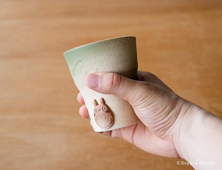 となりのトトロ信楽焼フリーカップ(緑)02