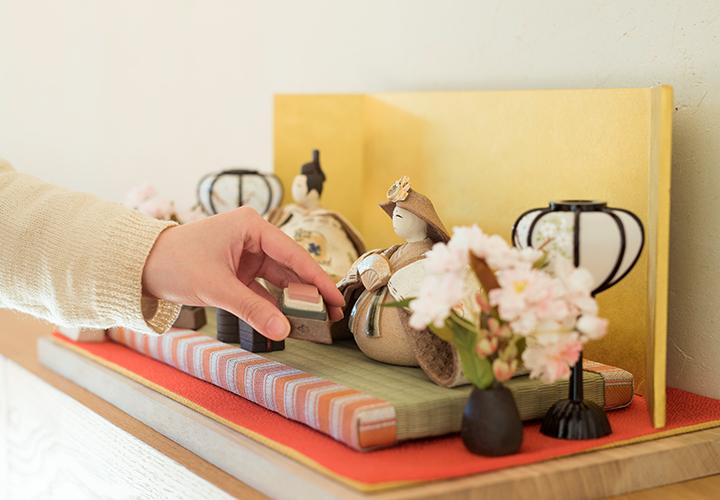 カスタマイズできるいわい雛人形の陶器小物