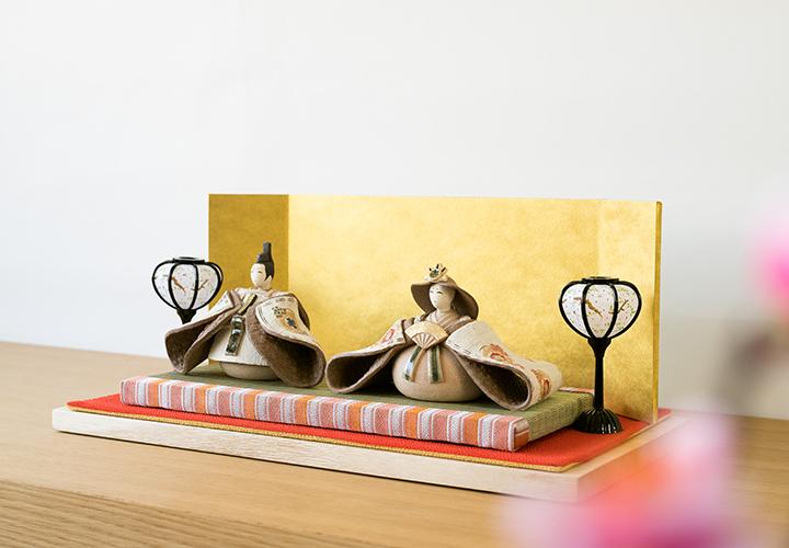 信楽焼明山いわいの陶器の雛人形