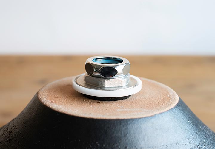 赤絵付楕円手洗鉢(W40cm)の水栓部品