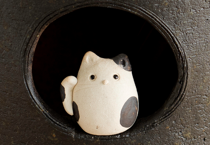 小窓まねき猫傘立てのサイズ感