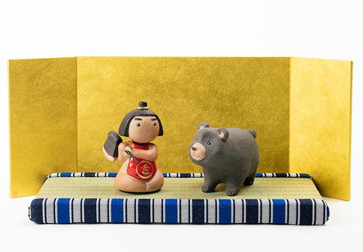 信楽焼五月人形金太郎セット01