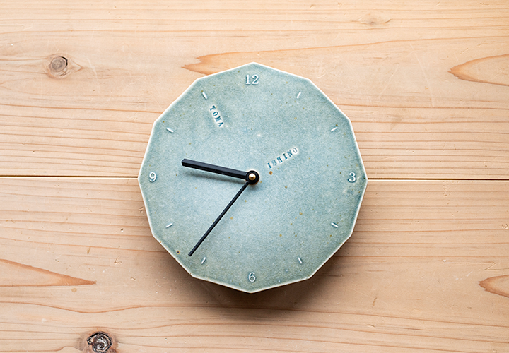 birthday_clock (緑釉) 01